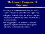 the learned component of depression