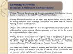 company s profile winning achievers consultancy