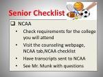 senior checklist11