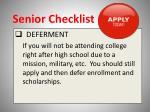 senior checklist12
