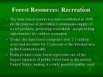 forest resources recreation
