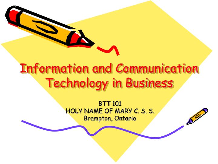 information and communication technology in business n.