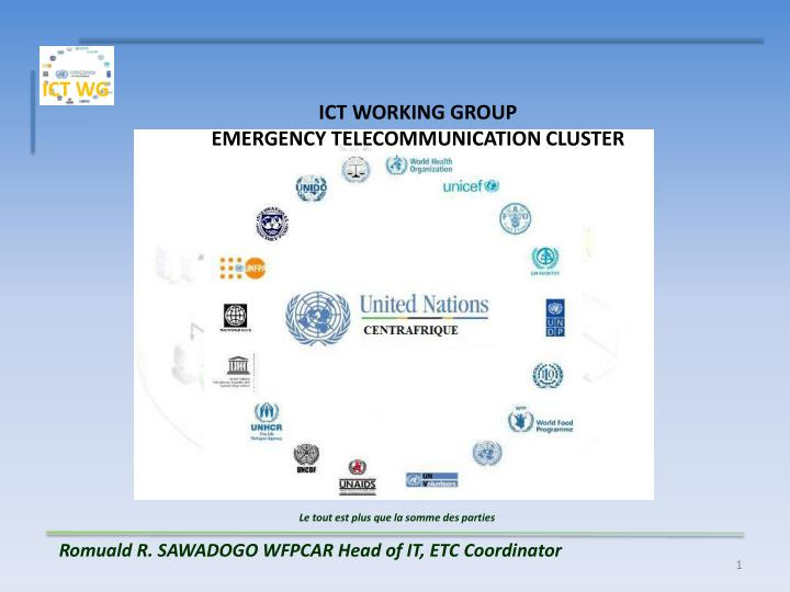 ict working group emergency telecommunication cluster n.