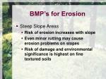 bmp s for erosion