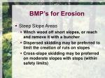 bmp s for erosion2
