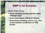 bmp s for erosion3