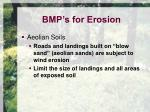 bmp s for erosion8