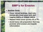 bmp s for erosion9