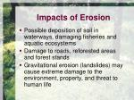 impacts of erosion