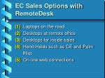 ec sales options with remotedesk