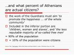 and what percent of athenians are actual citizens