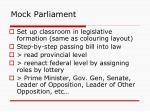 mock parliament