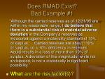 does rmad exist bad example 1