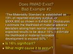 does rmad exist bad example 2