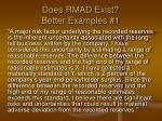 does rmad exist better examples 1