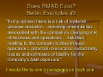 does rmad exist better examples 2