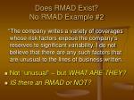 does rmad exist no rmad example 2