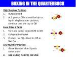 boxing in the quarterback