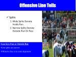 offensive line tells