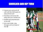 shoulder and hip turn