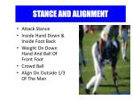 stance and alignment