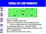 tackle set line principle