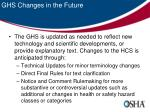 ghs changes in the future