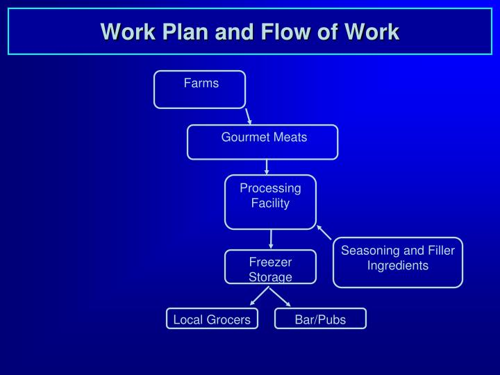 Work Plan and Flow of Work