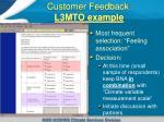 customer feedback l3mto example1