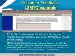 customer feedback l3mto example2