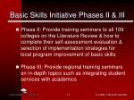 basic skills initiative phases ii iii