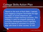college skills action plan1