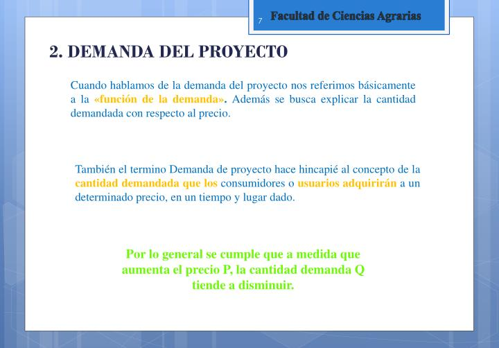 2. DEMANDA DEL PROYECTO