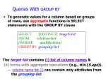 queries with group by