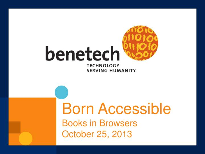 born accessible books in browsers october 25 2013 n.