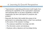 4 learning growth perspective