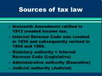 sources of tax law