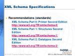 xml schema specifications