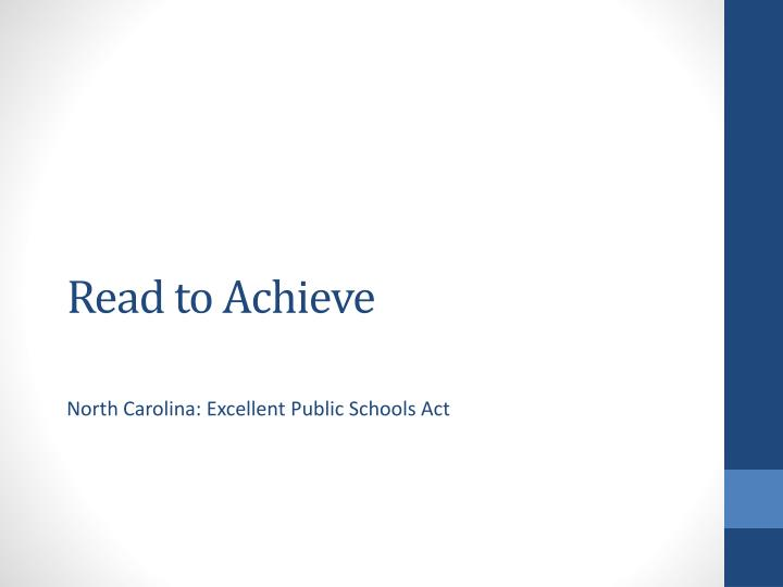 read to achieve n.