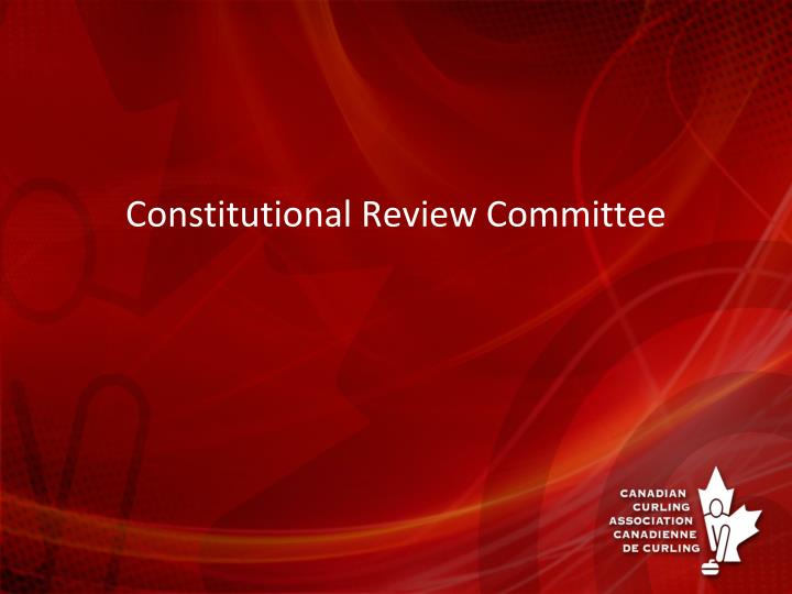 constitutional review committee n.
