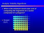 analytic visibility algorithms1