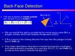 back face detection1