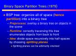 bin ary space partition trees 1979