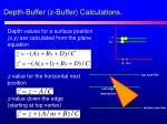 depth buffer z buffer calculations