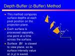 depth buffer z buffer method