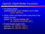 opengl depth buffer functions