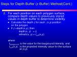 steps for depth buffer z buffer method cont1