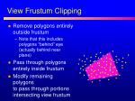 view frustum clipping