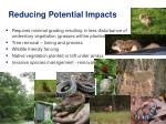 reducing potential impacts