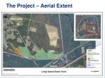 the project aerial extent